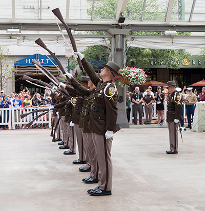 Honor Guard performs as silent drill team. Photo by Mary Ellen Dawley