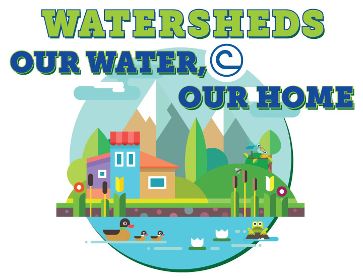 watersheds our water our home logo