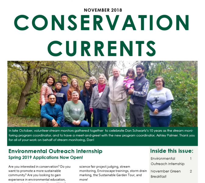 November 2018 Conservation Currents