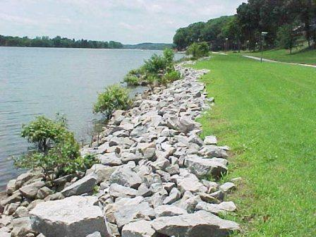 Riprap. Photo credit: US Army Corps of Engineers.