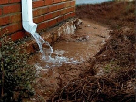 Gutters And Downspouts Wetness Or Erosion Problems