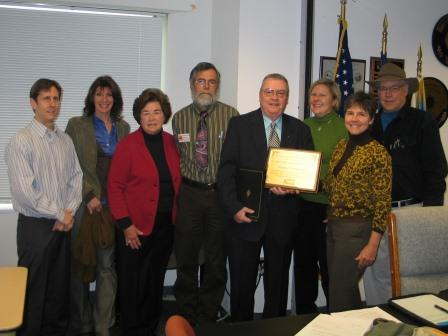 Friends of Accotink Creek Accept Cooperator of the Year Award
