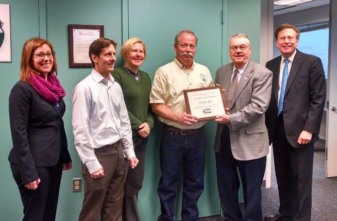 Mike McCaffrey Accepts Cooperator of the Year Award