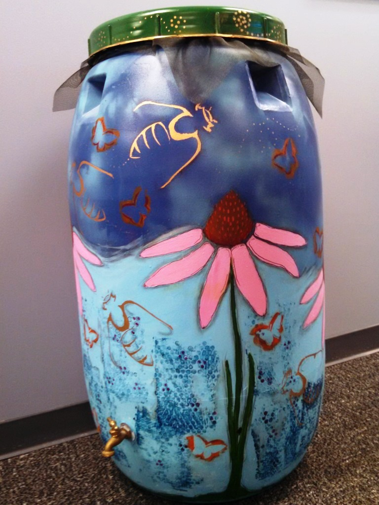 Allison Cusato rain barrel art