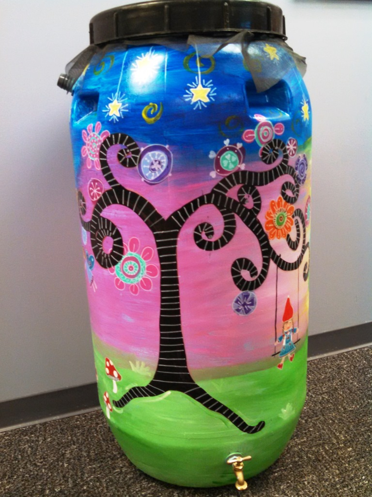 Erin Miller rain barrel art