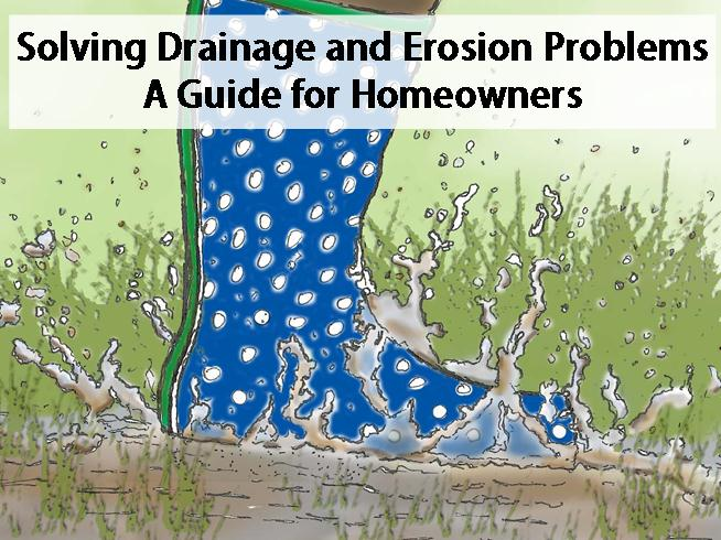 Muddy boot in puddle: Solving Drainage and Erosion Problems