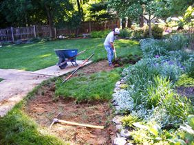Construction of Gretchen Stark's Rain Garden, Part 2