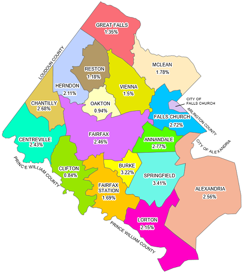 Map Of Fairfax County Camping Map