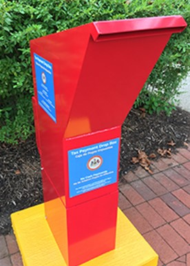Image of drop box outside the government center