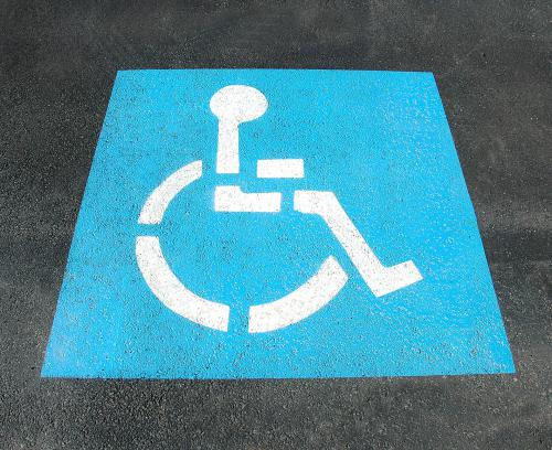 handicap parking symbol