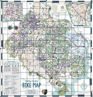 Fairfax county bicycle map transportation bike fairfax print map sciox Gallery