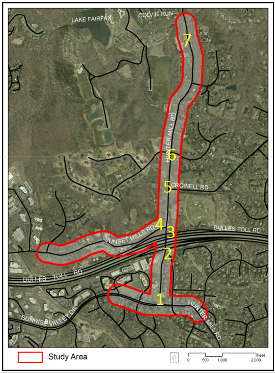 Hunter Mill Road Study Area Map