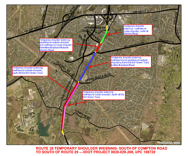 Route 28 Widening Construction Map Small Spring 2021