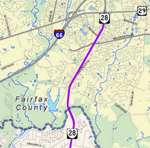Route 28 Project Map