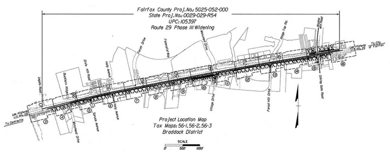 Route 29 widening map